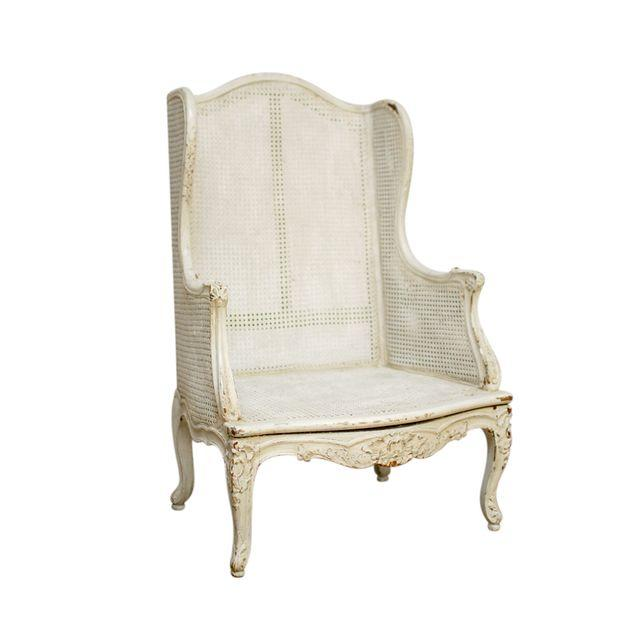 Vintage XV Wing Back Bergere Chair