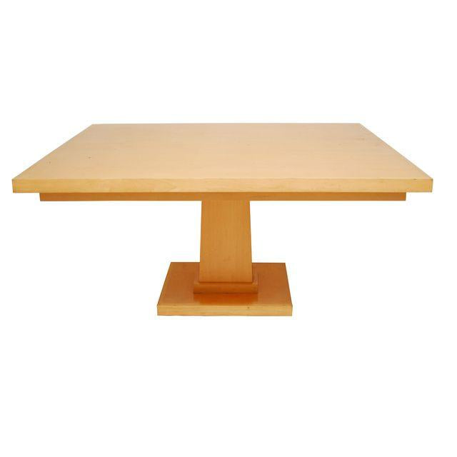 Maple Pedestal Square Dining Table