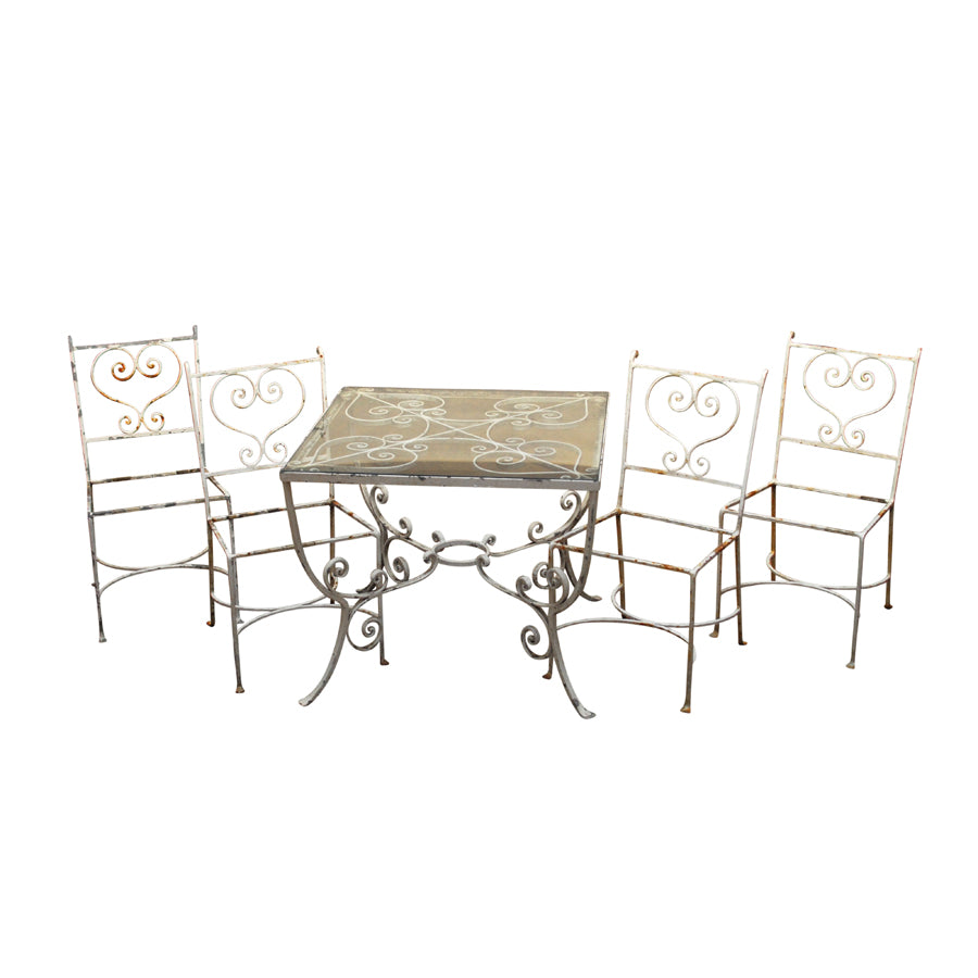 French Wrought Iron Patio Set