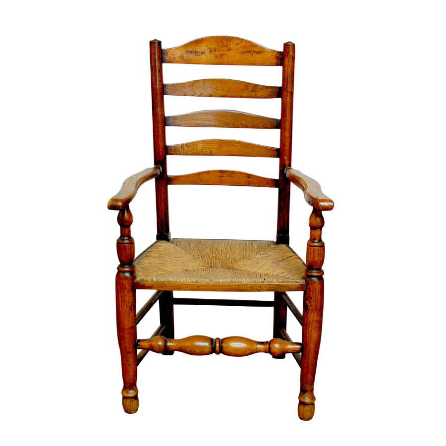 19th Century English Ladder Back Chair