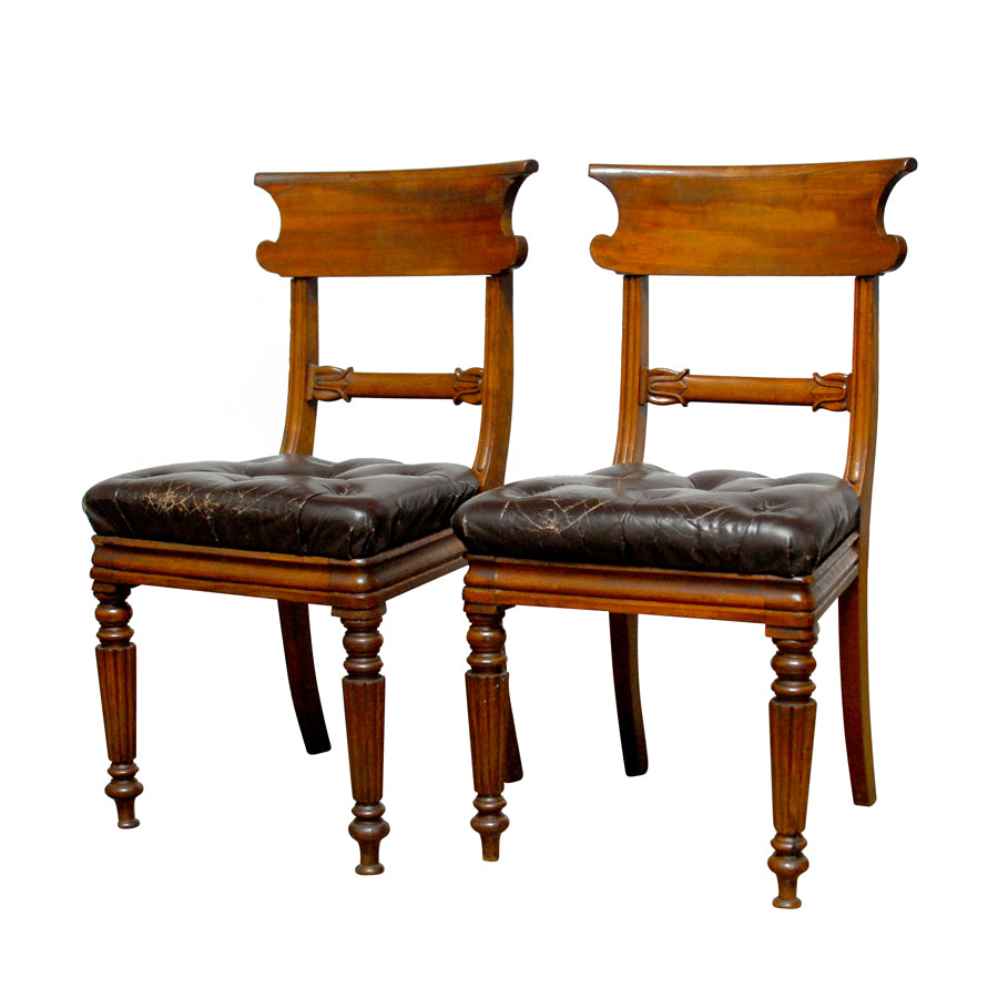 William IV Leather Dining Chairs
