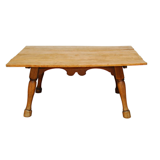 English Tavern Table with Horse Leg Feet