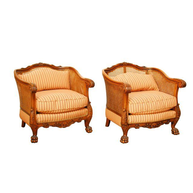 19th Century French Cane Bergere Chairs_Erin Lane Estate