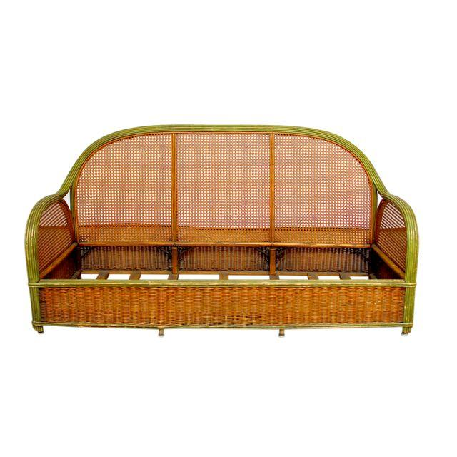French Art Deco Cane Settee_Erin Lane Estate
