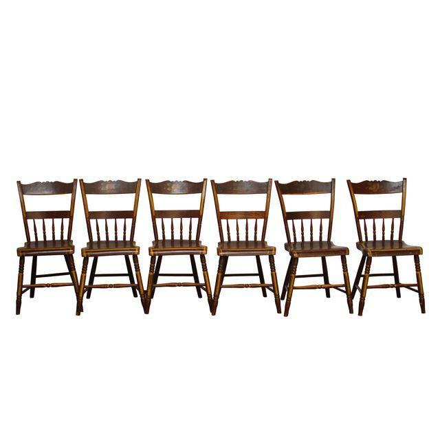 Set of 6 Pennsylvania Hitchcock Chairs
