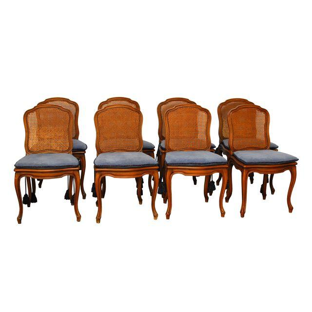 Louis XV French Cane Dining Chairs_Erin Lane Estate