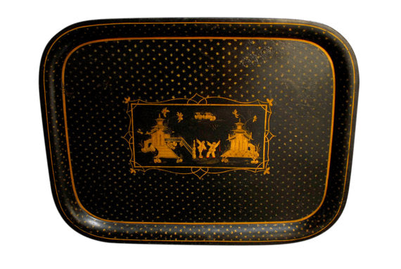 Chinoiserie Tole Serving Tray