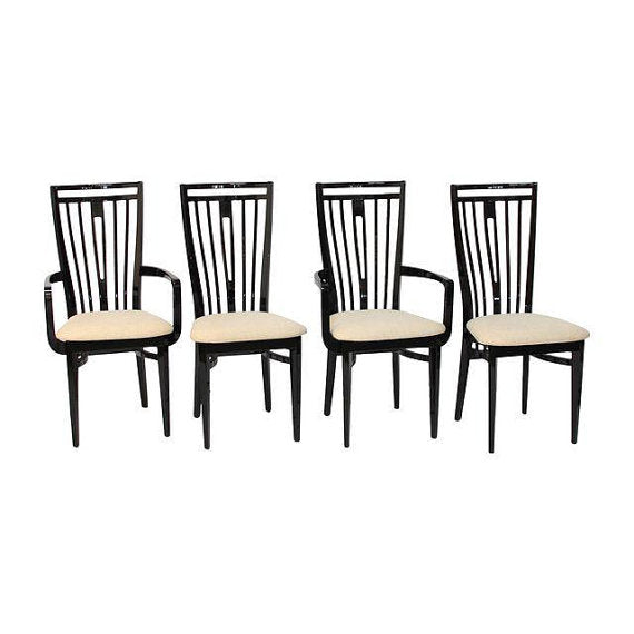 Set of 4 Italian Lacquer Dining Chairs