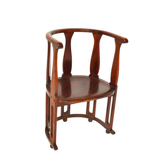 Arts and Crafts High Back Barrel Chair