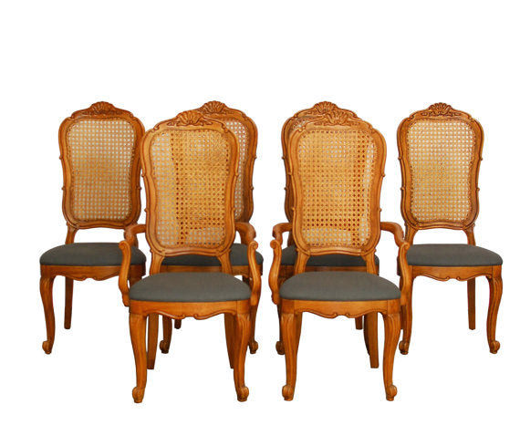 French Louis XV Carved Dining Chairs
