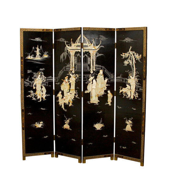 Chinese Lacquer Coromandel Screen