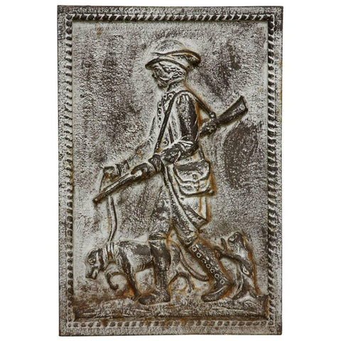 19th Century Cast Iron Hunt Plaque