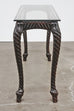 Knotted Rope Carved Console Table or Sofa Table