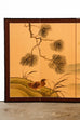 Japanese Four Panel Folding Screen with Ducks