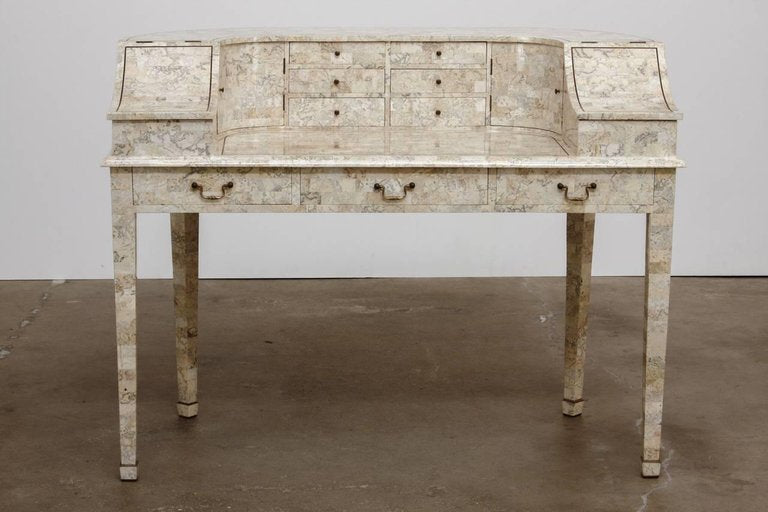 ... Tessellated Stone Carlton House Desk By Maitland Smith ...