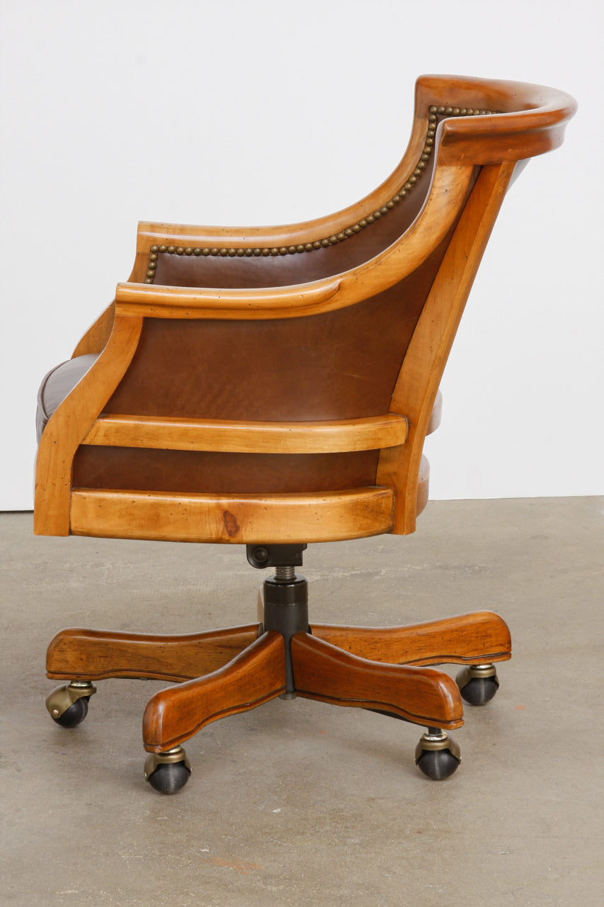 Astounding Maple Executive Office Desk Chair By Leathercraft Erin Lane Estate Uwap Interior Chair Design Uwaporg