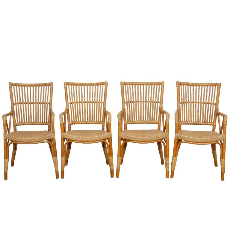 bamboo dining chairs. Danish Modern Bamboo Dining Chairs