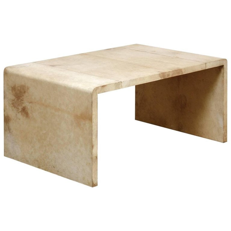 Jean Michel Frank Style Goatskin Waterfall Coffee Table