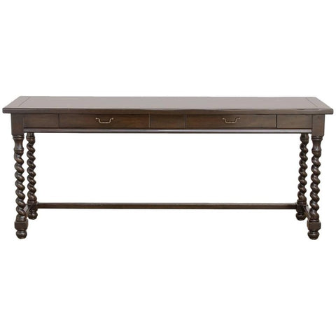 Barley Twist Two-Drawer Console Table or Desk