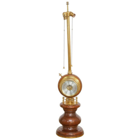 Stiffel Brass Nautical Barometer Table Lamp