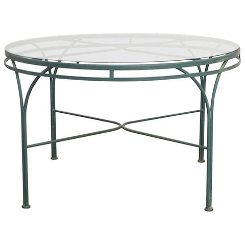 Mid-Century Round Aluminium Garden or Dining Table