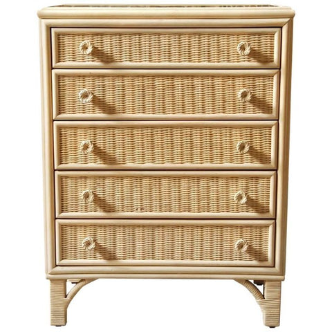 Woodard Mid-Century Wicker and Rattan Chest