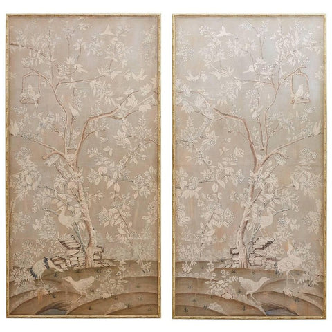 Chinoiserie Wallpaper Panels by Dennis and Leen