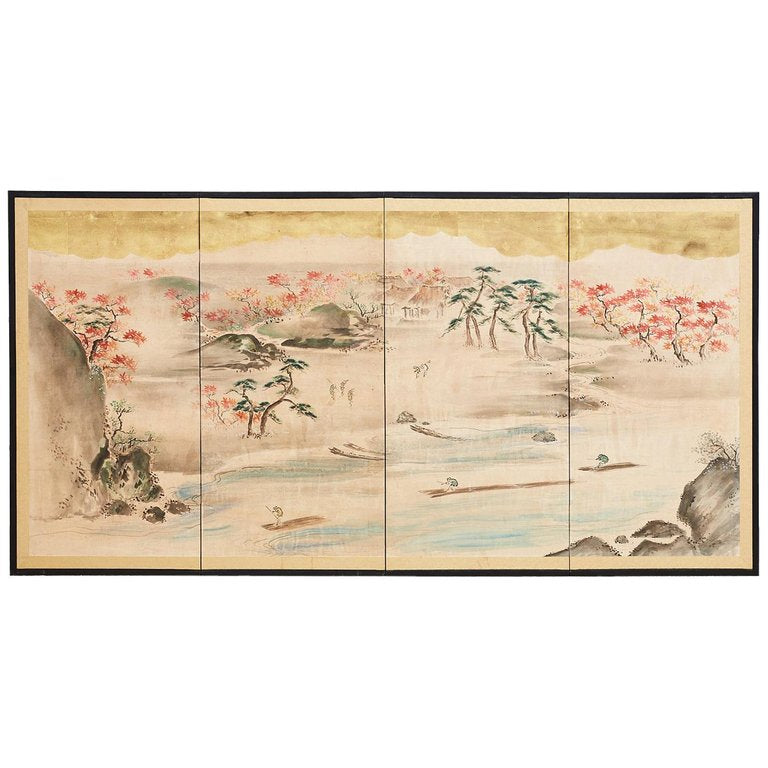 Japanese Four Panel Screen