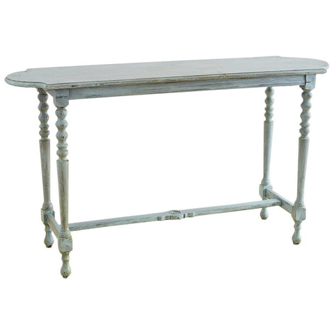 Robin's Egg Blue Painted Console Sofa Table