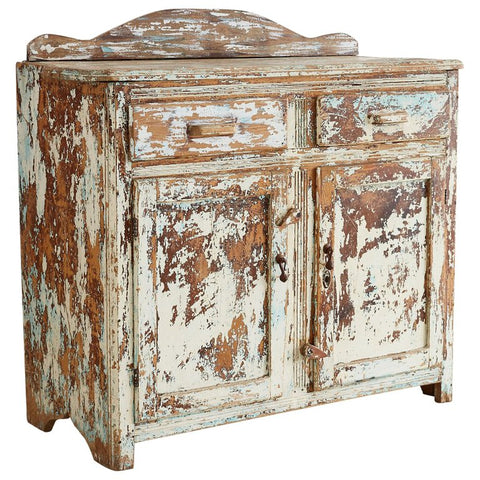Rustic Painted Pine Server or Sideboard