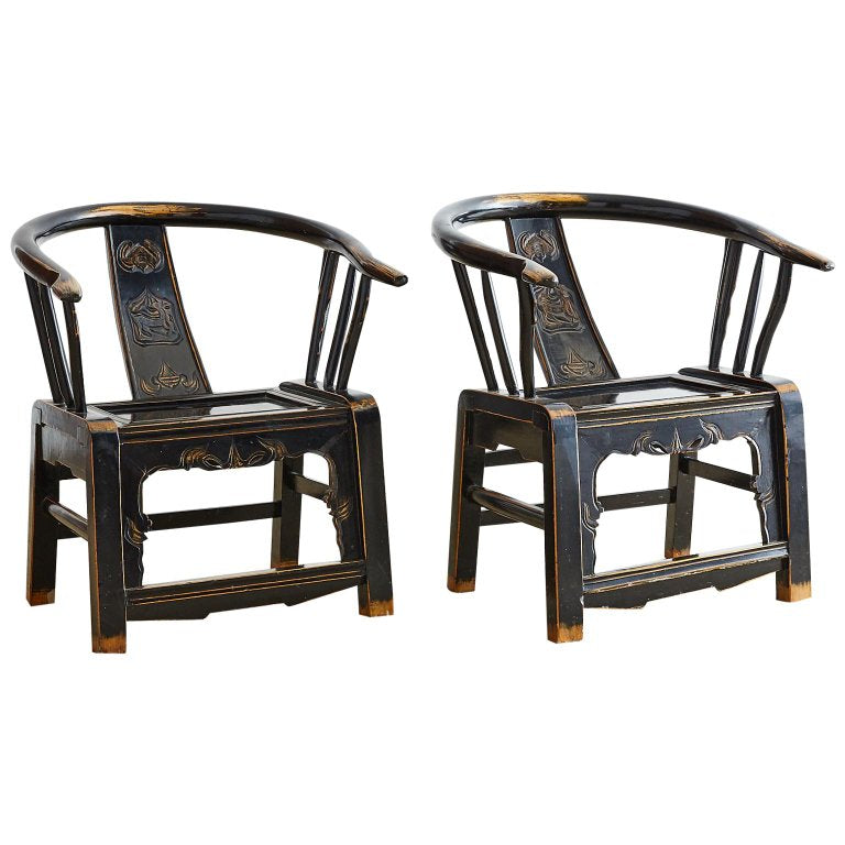 Qing Dynasty Horseshoe Armchairs