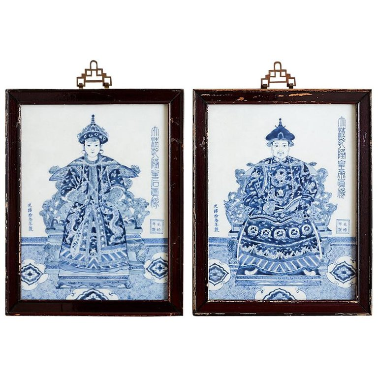 Chinese Qing Porcelain Plaques