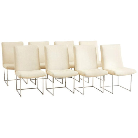 Milo Baughman 1187 Chrome Dining Chairs