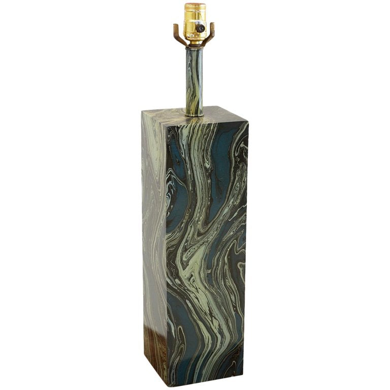 Fornasetti Attributed Painted Metal Table Lamp