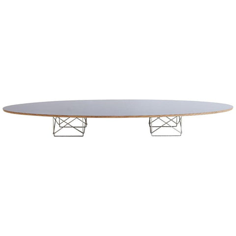 Eames for Herman Miller Black Elliptical Surfboard Table
