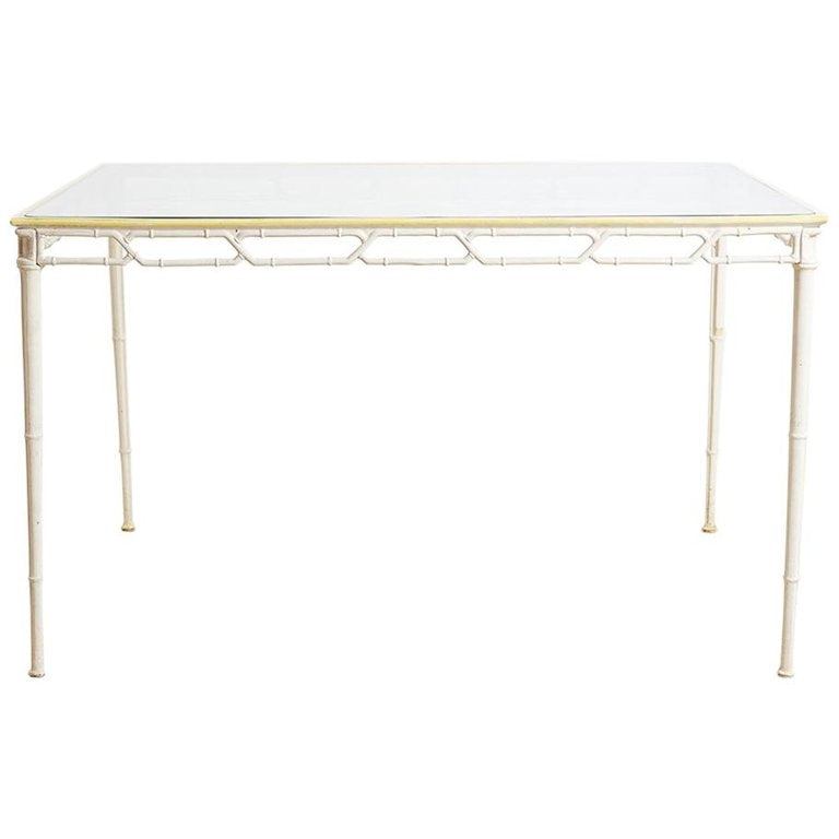 Brown Jordan Calcutta Faux Bamboo Garden Table