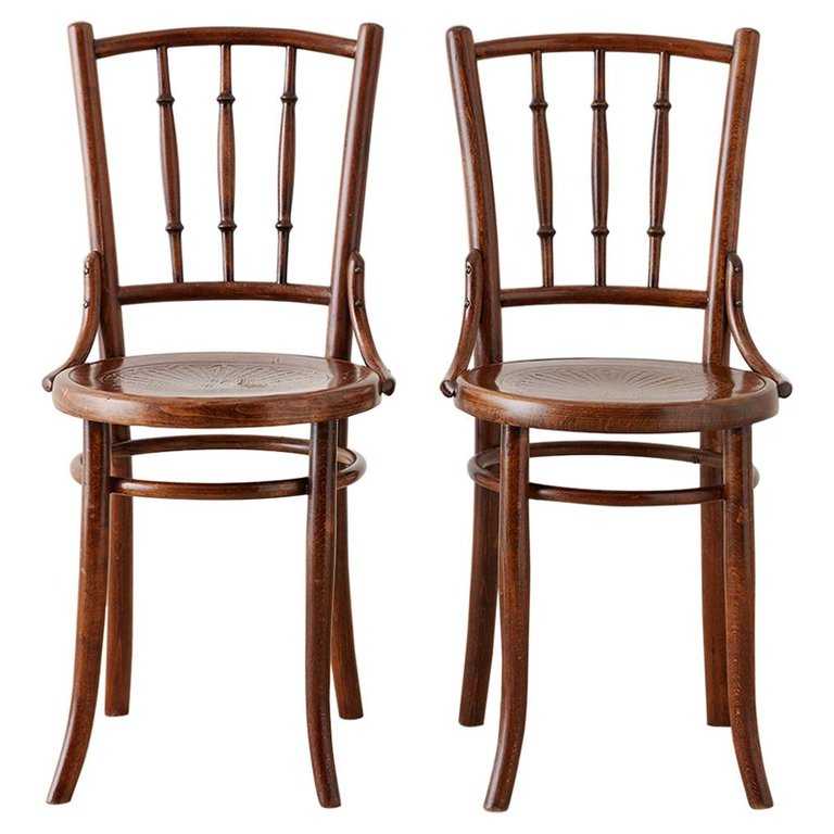 Pair of 19th Century JJ Kohn Viennese Bentwood Chairs