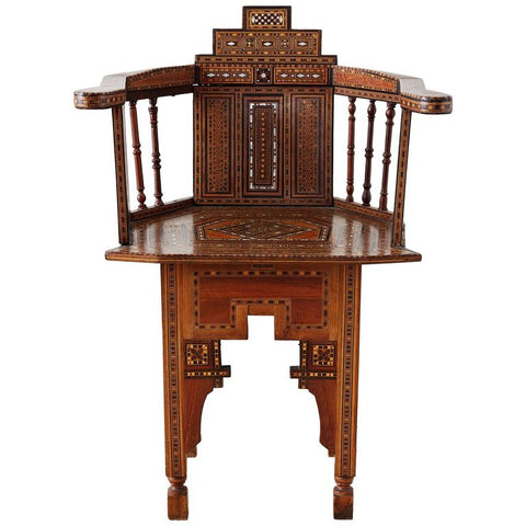 Syrian Armchair with Inlay Moorish Designs
