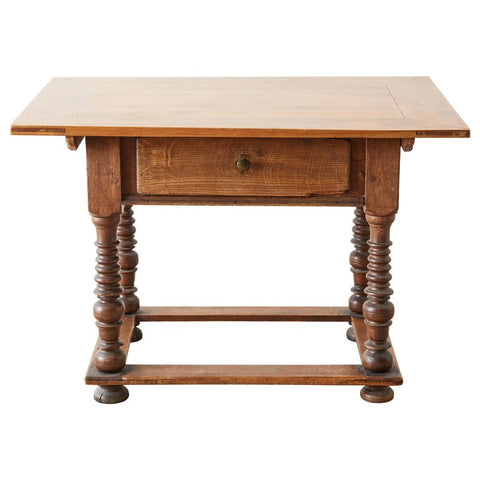 18th Century Spanish Oak and Walnut Library Table