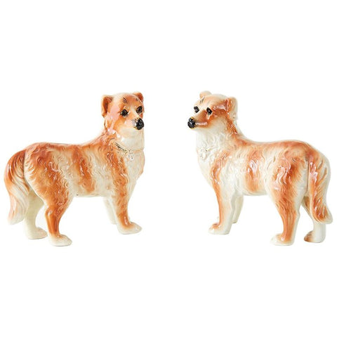 Pair of English Staffordshire Standing Dogs