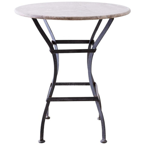 French Iron Stone Top Bistro or Cafe Table