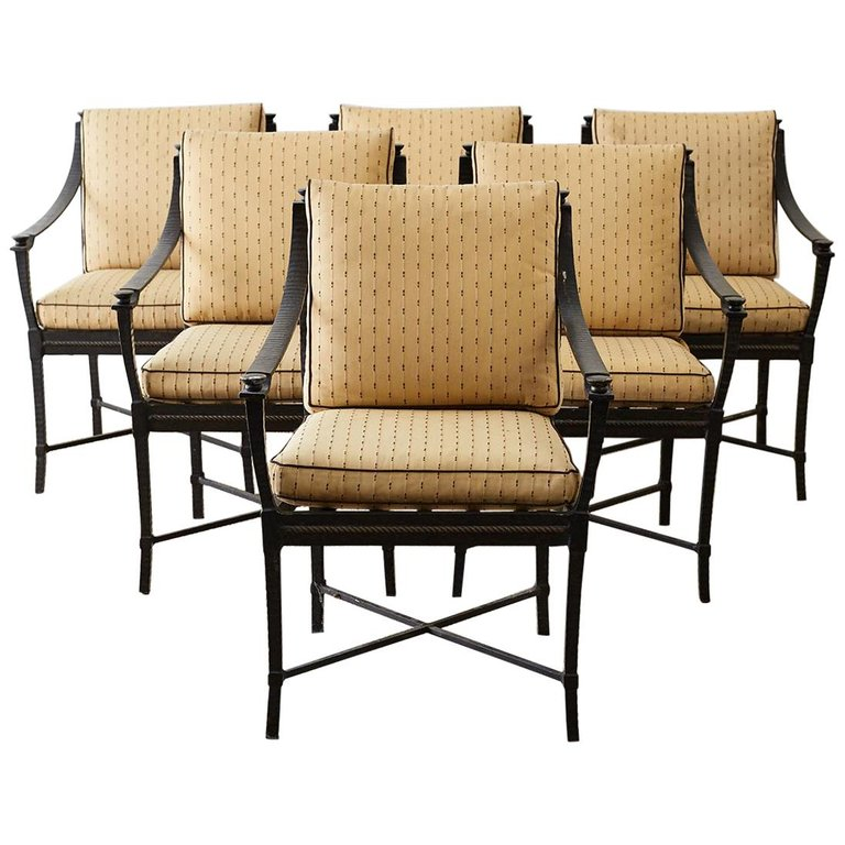 Six Andalusia Royal Lounge Gondola Chairs by Richard Frinier