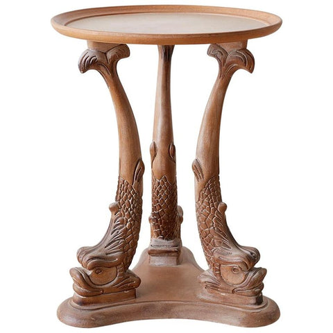 Venetian Carved Grotto Drinks Table with Dolphins