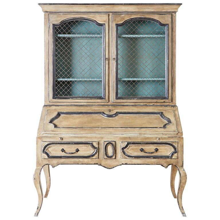 Swedish Gustavian Style Two-Part Secretaire Bookcase
