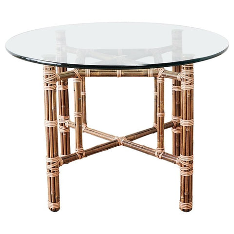 McGuire Organic Modern Bamboo Rattan Dining Table