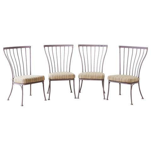 Set of Four O.W. Lee Patio Garden Dining Chairs