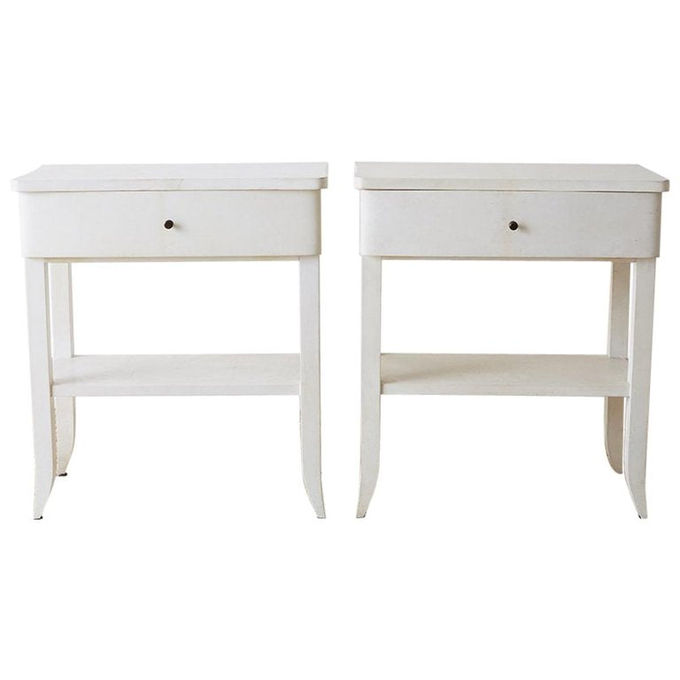 Modern Goatskin Nightstands or Tables