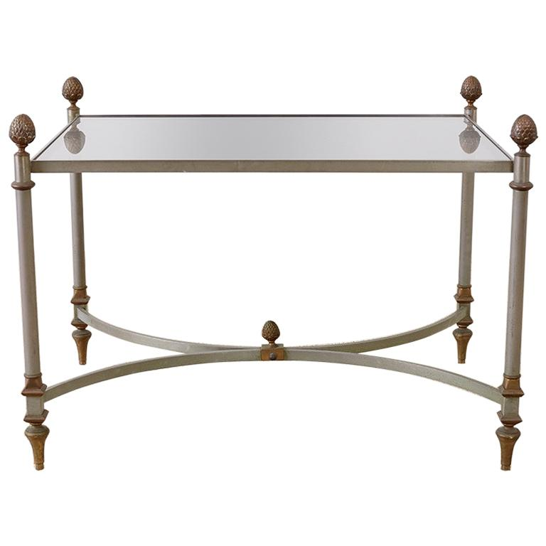 French Maison Baguès Style Bronze Metal Cocktail Table