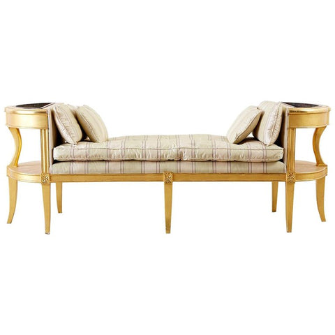 French Directoire Style Giltwood Window Bench Seat