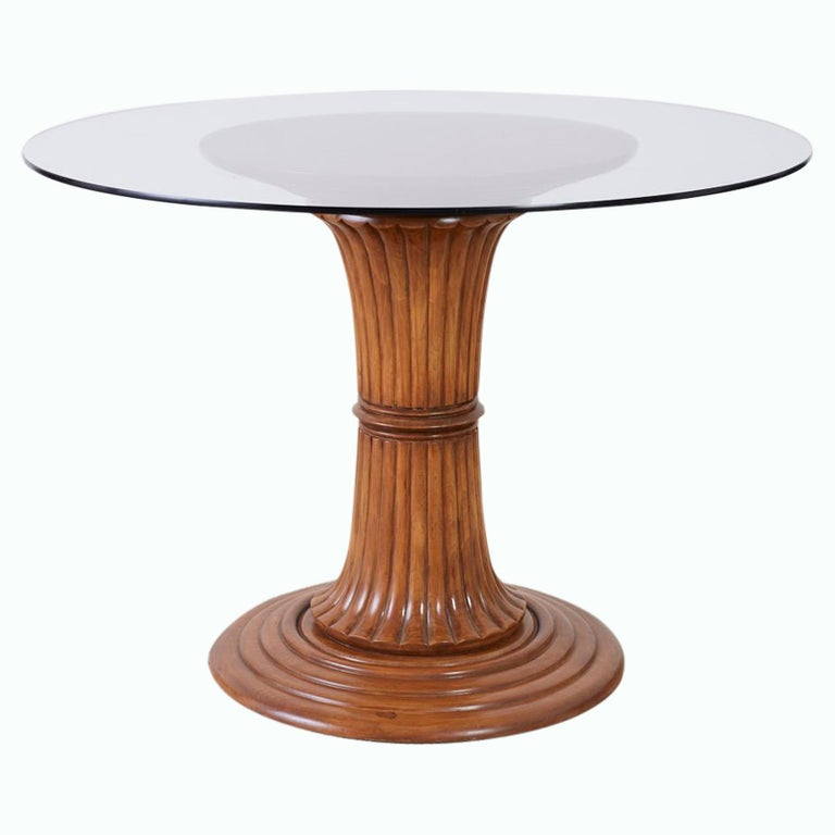 Turned Wood Pedestal Style Dining or Center Table